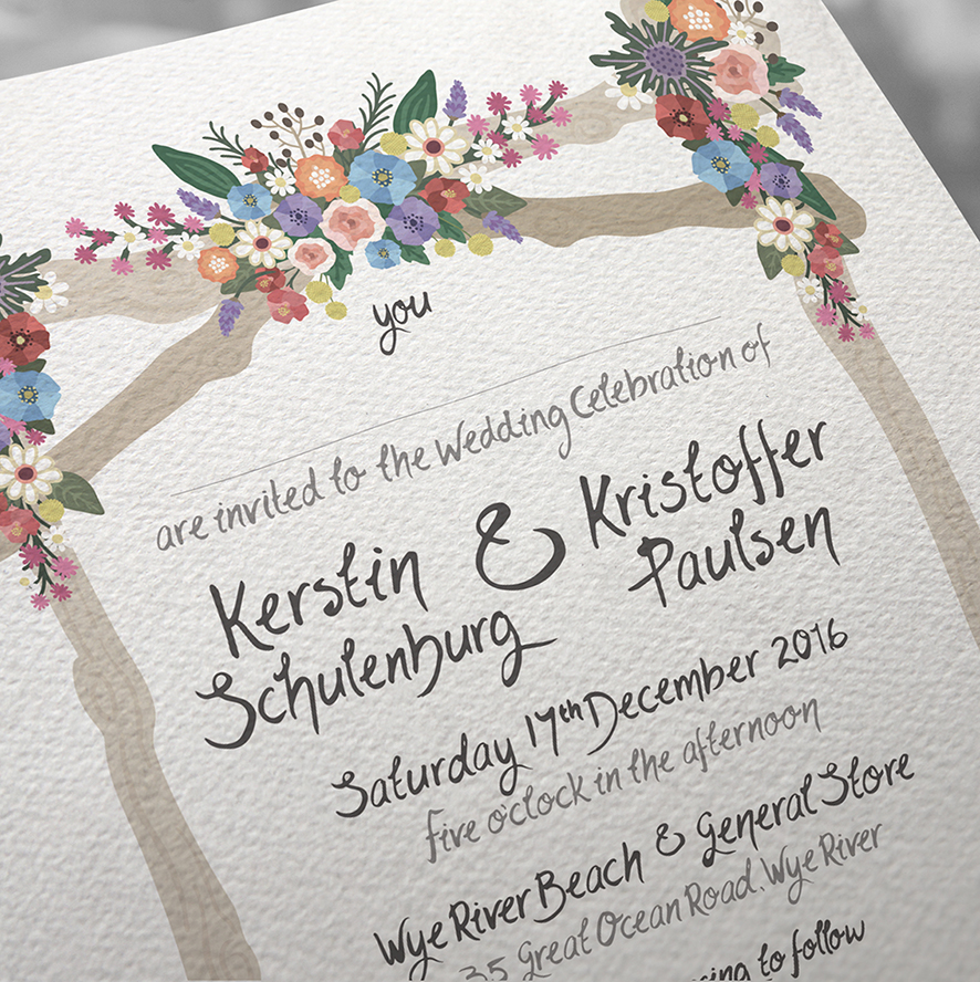 Wedding invitation   - Texture detail