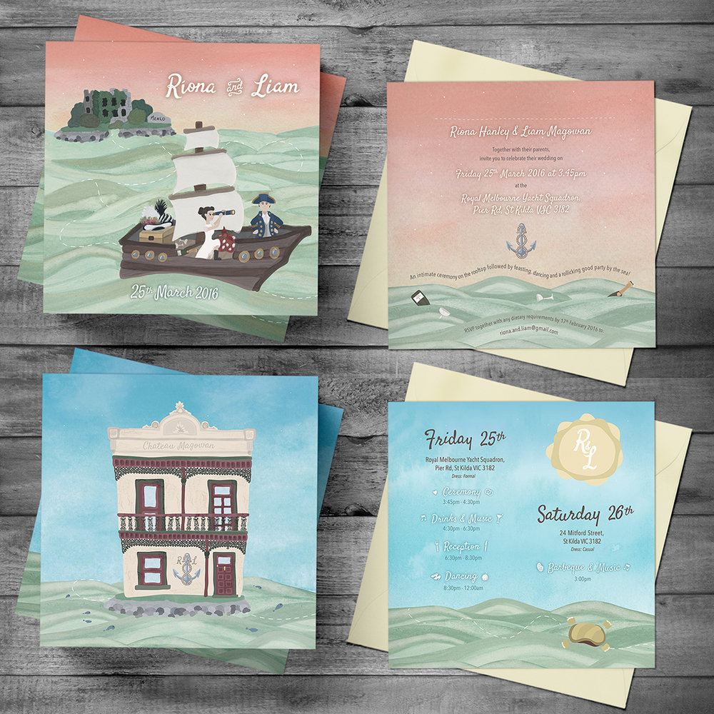 Wedding invitation and Order of Schedule