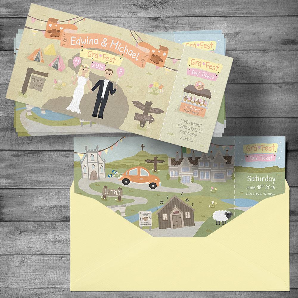 Wedding invitation & Map