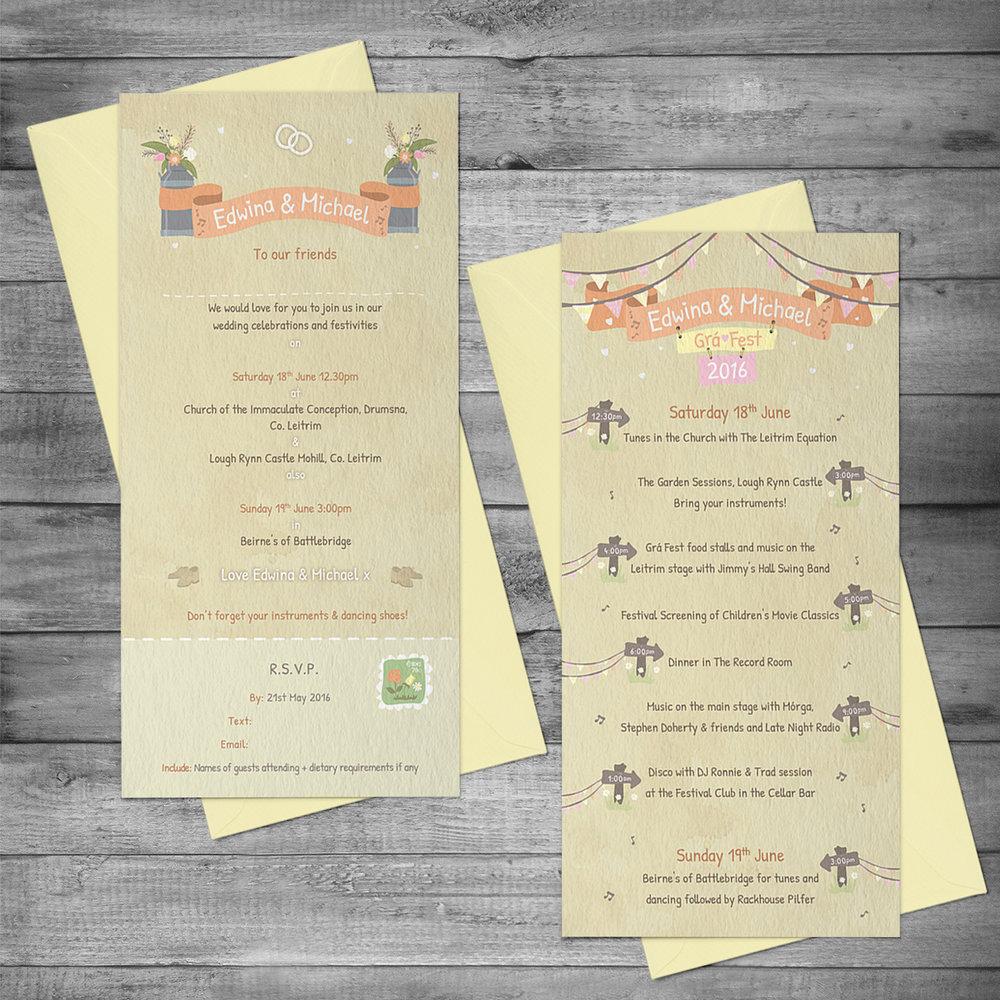 Wedding invitation & Schedule
