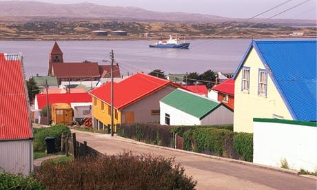 Home port: The scientific cruise starts and finishes at Stanley in the Falklands. Photograph: David W. Hamilton/Getty Images