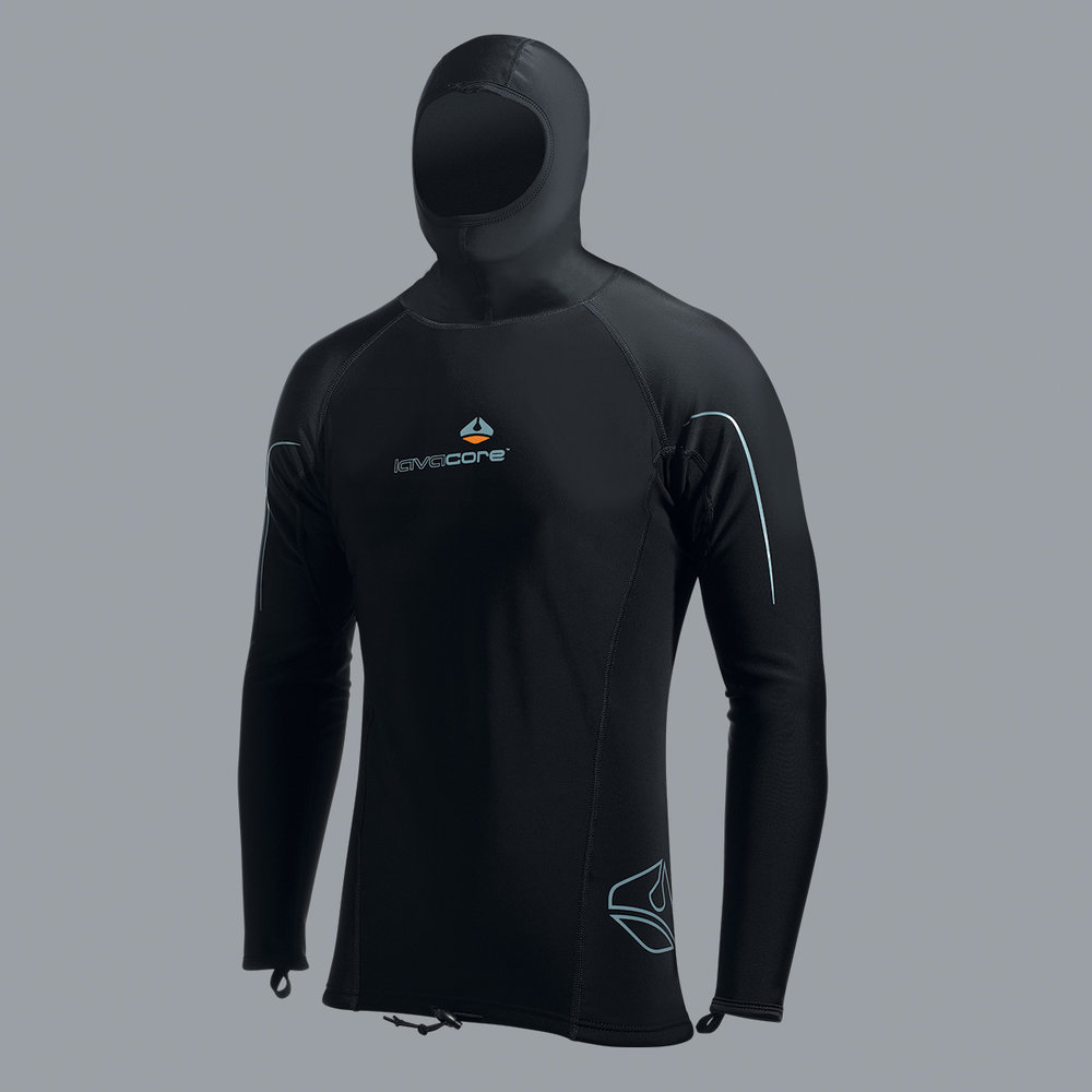LONG-SLEEVE HOODED SHIRT