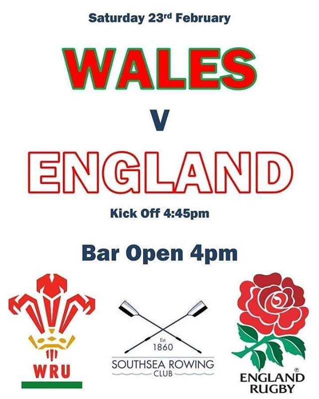 Next up can we beat the Welsh to continue the winning ways?! Come and join us at Southsea Rowing Club this Saturday with the bar open to cheer on England!  All welcome, bring along friends and family and get behind them! 🏉🍺