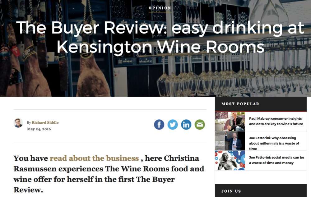 Kensington Wine Rooms Review