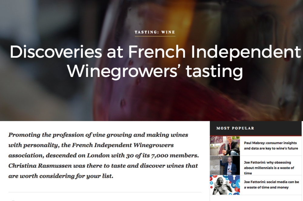 French Independent Winegrowers Tasting