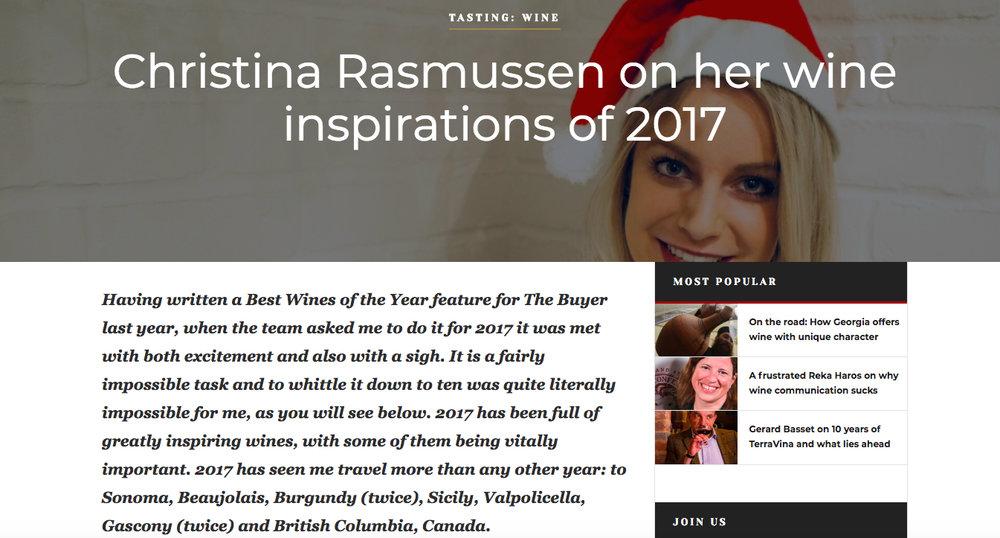 Wines of 2017