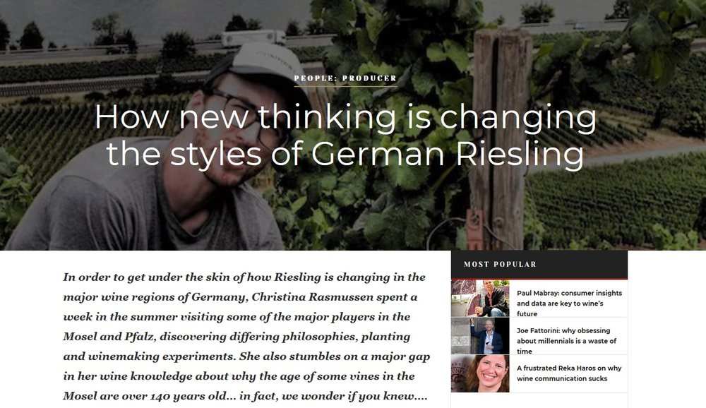 Experimental vinification and viticulture for German Riesling