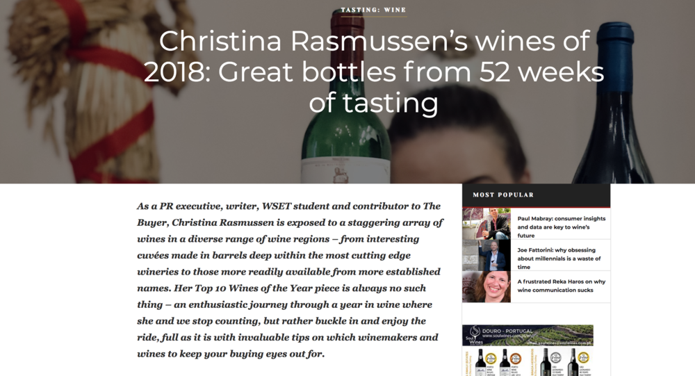 The wines & vinous moments of 2018