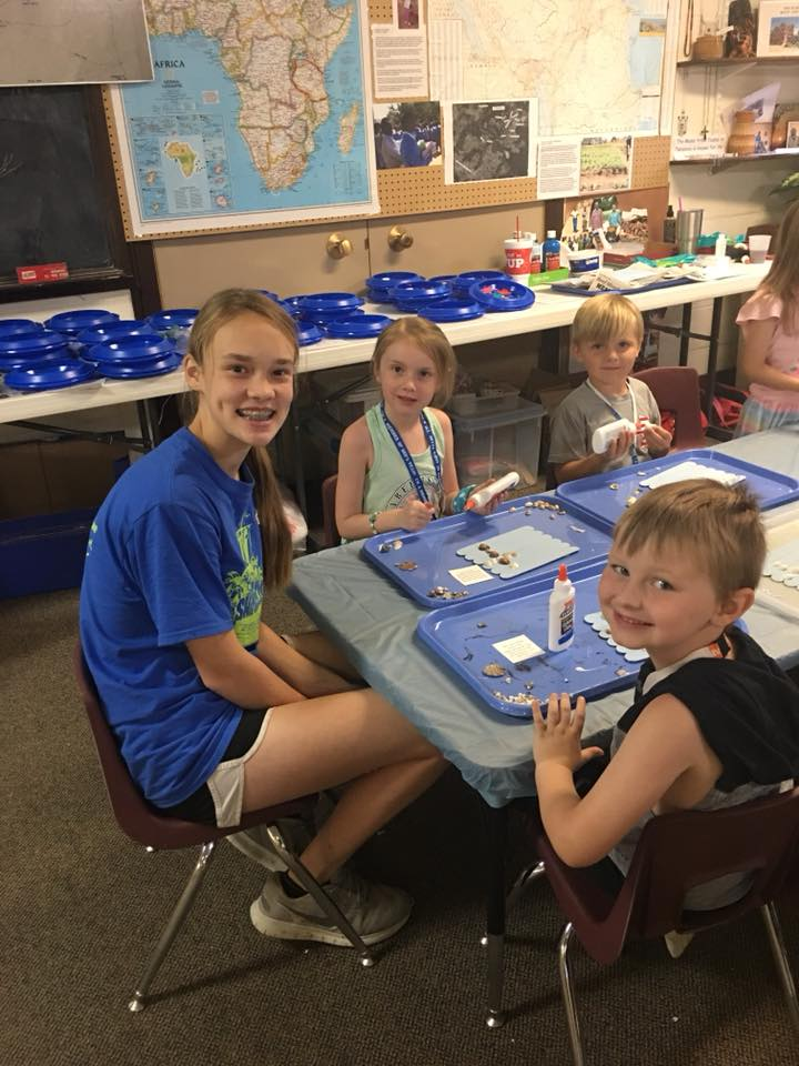 Kids Working on their Crafts at VBS
