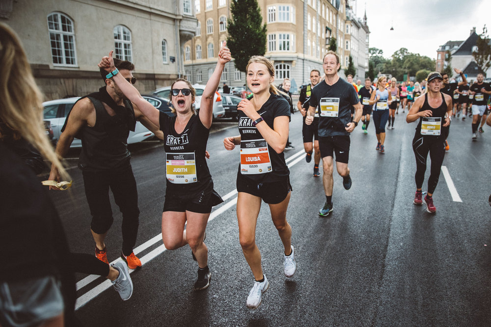 … enjoying their first half marathon