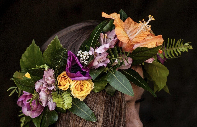 Workshops gray greenery flower crown workshop izmirmasajfo