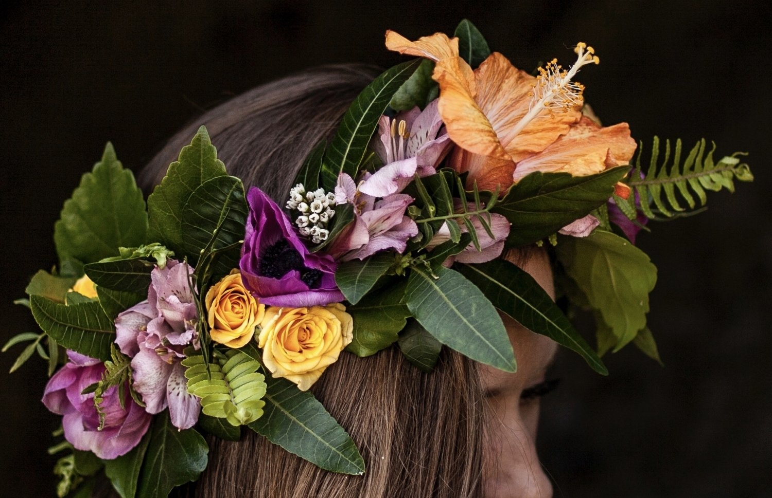 Flower Crown Workshop Gray Greenery