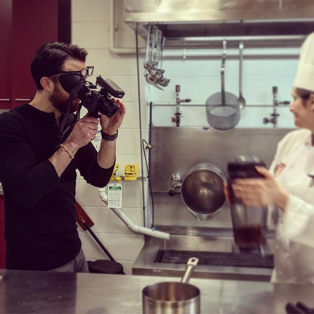 Finding the frame for our #pridemonth mini-doc with a very talented culinary pro! 🎥. . . . #creativecommunity #filmmaking #brand #film #documentary #digital #sonya6000 #director #kitchen #food