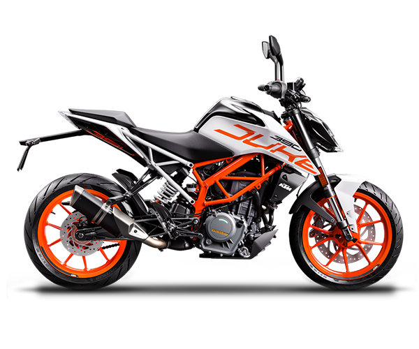 Duke 390 - · Engine: 390cc· 44HP· Liquid Cooled· 6-Speed Transmission· Colors: Orange or WhiteRequest Parts>Request Service>