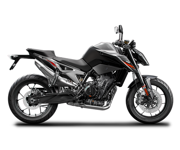 Duke 790 - · Engine: 790cc· 105HP· Liquid Cooled· 6-Speed Transmission· Colors: Orange or BlackRequest Parts>Request Service>