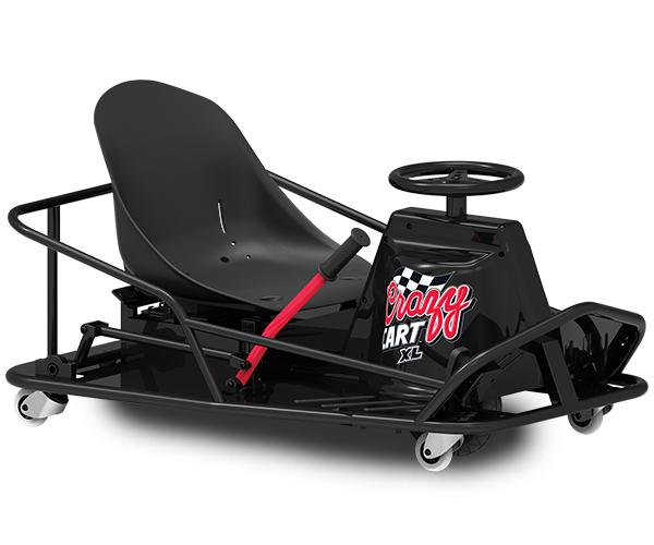 Crazy Cart XL - Max Speed: 12 MPHBattery Life: 40 MinsMax Weight: 240 LbsAges: 16+