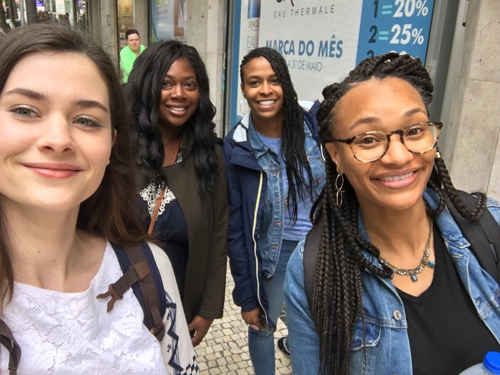 Recognize the girl on my right? You should because she's shown up twice in this post! We met back at my job in Ann Arbor and quickly became friends, so much so she was at my bday dinner (pic above) and this picture was from our trip to Portugal, other girls are her college friends, who are now my friends as well.