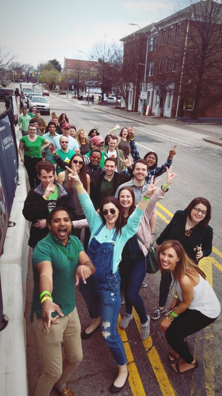 These awesome peeps and I went on a makeshift bar crawl for St. Paddy's Day in Raleigh, this was actually my first bar crawl believe it or not. We had a blast!
