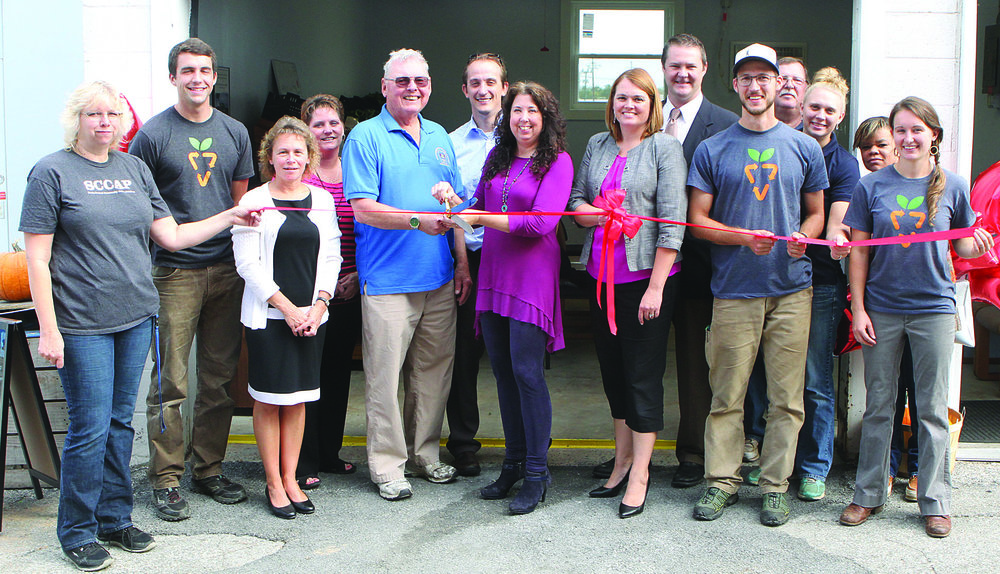 Ribbon Cutting Ceremony, Celebrating new renovations at the SCCAP Produce Stand and Food Pantry.