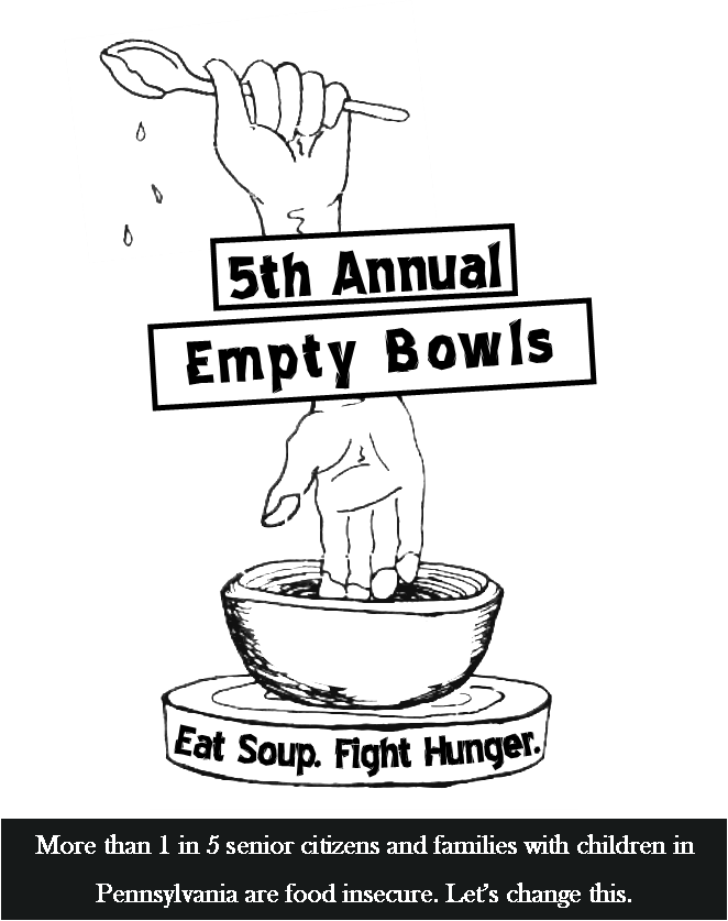 Eat Soup. Fight Hunger. - On Friday April 13th, nearly 400 community members gathered at our 5th annual Empty Bowls event to eat soup and fight hunger.This event raised $7,000 to help our glean team make good use of agricultural excess, reduce hunger and improve nutrition.