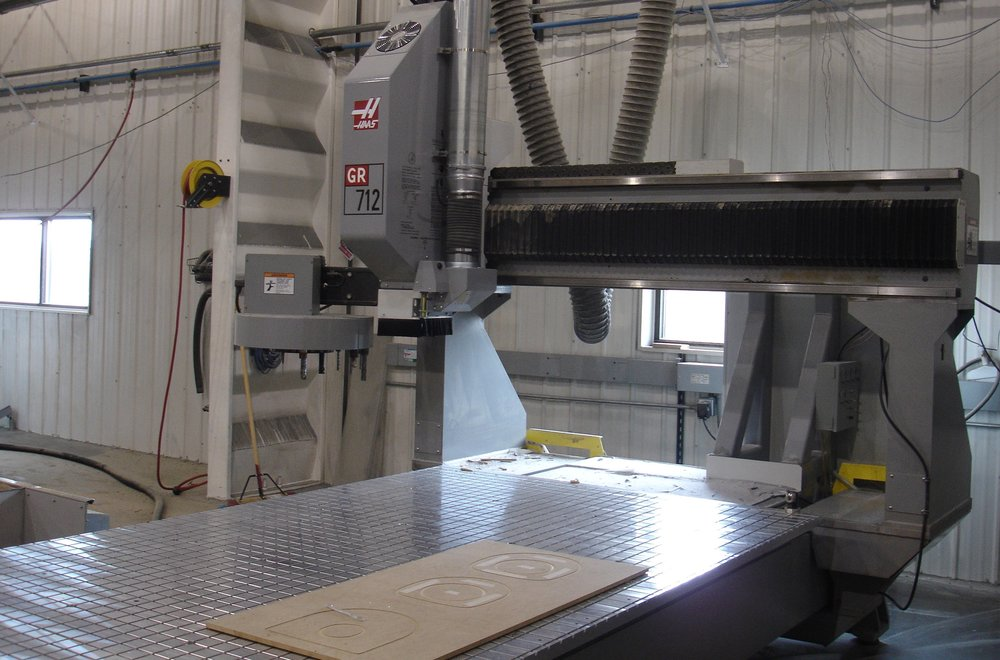 HAAS           GR712 - 3-axis CNC gantry router used for small tooling and part trimming.