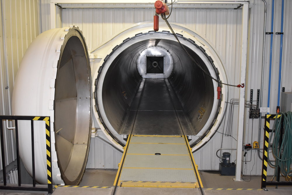 8FT x 50FT AUTOCLAVE - Used for curing of prepreg laminates for the aerospace industry. Results in better compaction and surface finished compared to oven cures of prepreg laminates, which results in fewer scrapped parts.