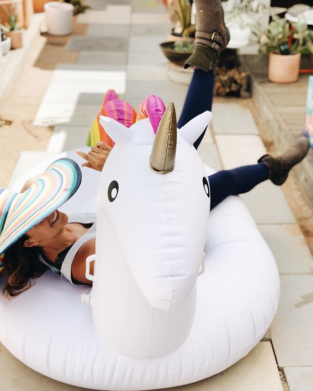 Oh it's only Wednesday? We didn't notice 🌈✨🦄 • • • • • • • #growvenice #losangeles #urbanoutdoorliving #venturesome #abbotkinney #gooutsideandbe #alwayssummer #venicebeach #santamonica#lacali#radicaloptimism #california #floaty #unicorn #pridemonth #likeforlikes #instagood #happy