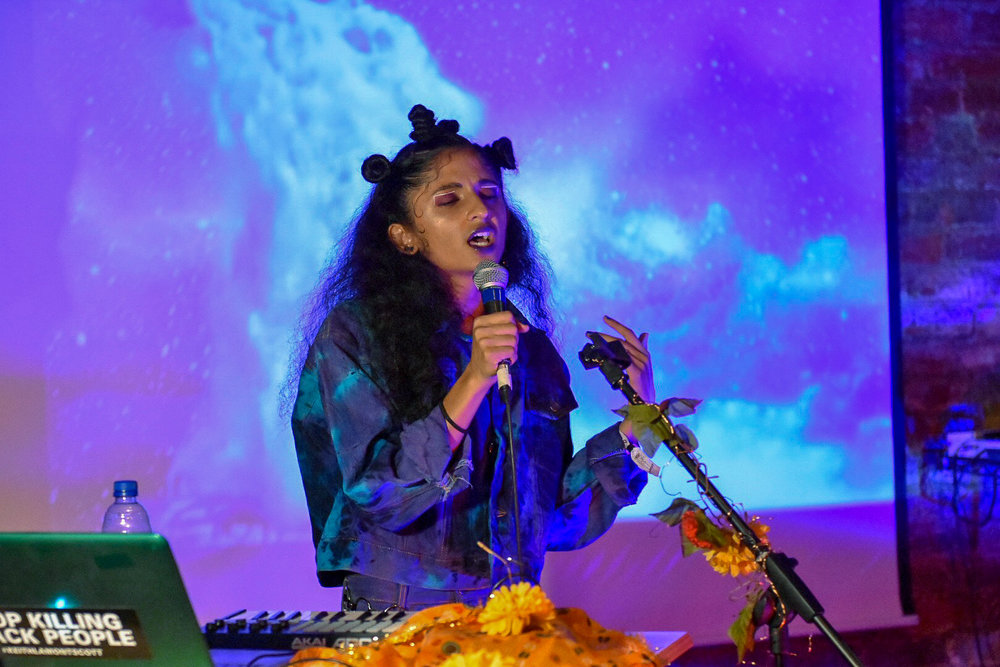 Anjali performing as Diaspoura at Hopscotch Music Festival on September 8.