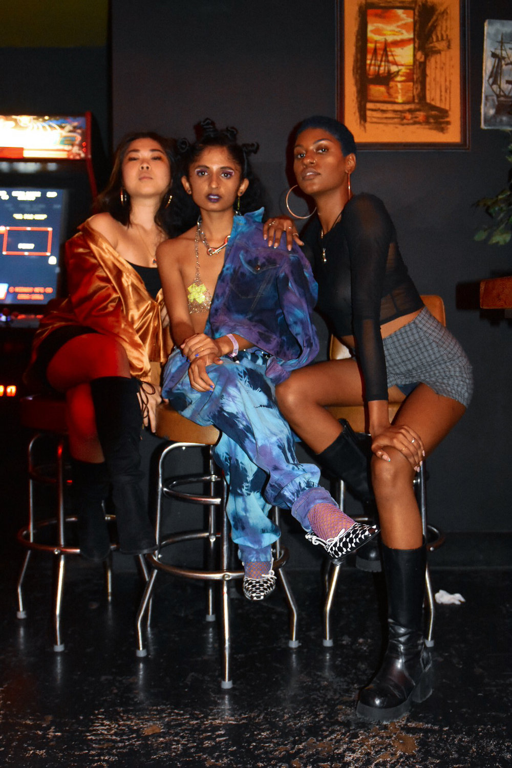 Julie, Anjali and Zuri in their post-show glow at Hopscotch Music Festival.