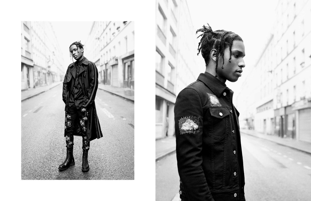 A$AP Rocky in the Dior Homme Summer 2017 collection, shot by photographer Willy Vanderperre.