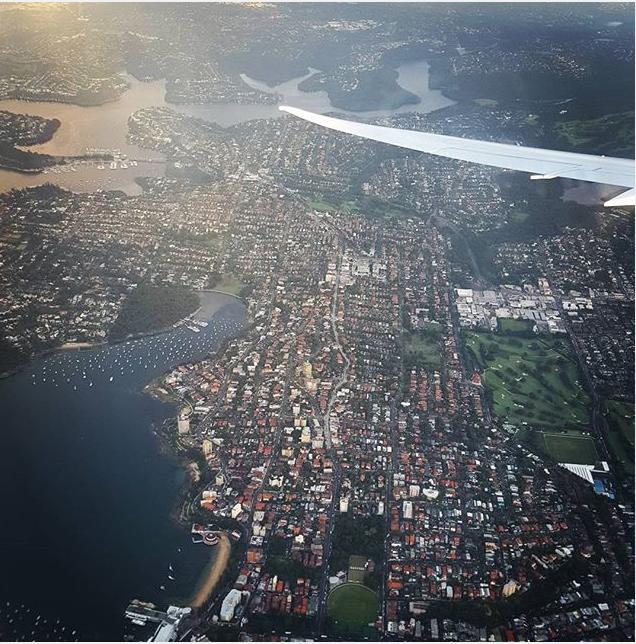 Window seat views of Sydney, Australia. MY RT ticket to Sydney was $390