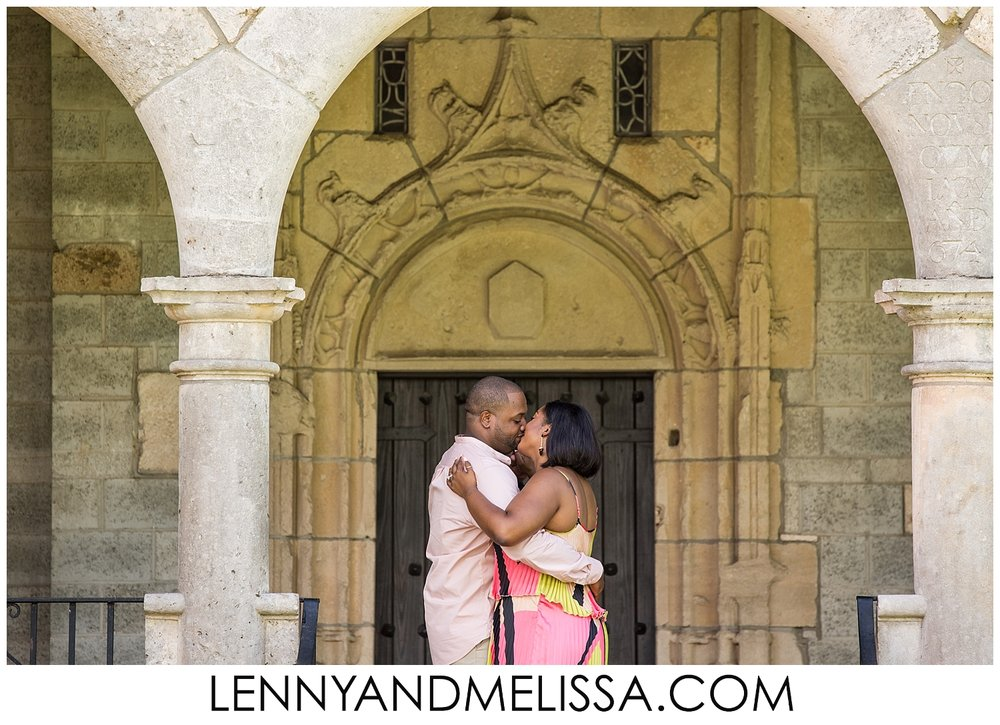 Spanish Monastery Engagement Photos