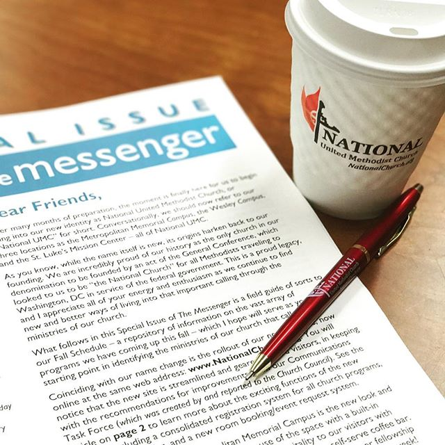 I'll just be here reading my Special Issue of The Messenger with my National UMC coffee and circling exciting fall programs with my National UMC pen. 💯