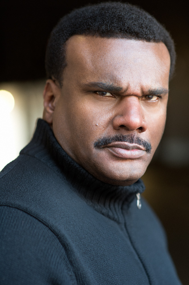 Theatrical Headshot of Actor Jeffrey - Law Enforcement Character Type