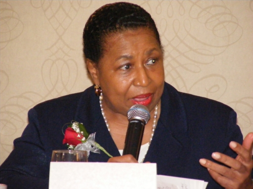 Carol Moseley-Braun speaking at WMW 2015