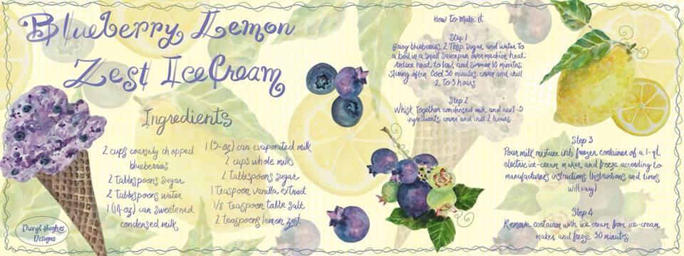 Blueberry and Lemon Zest Ice Cream Recipe
