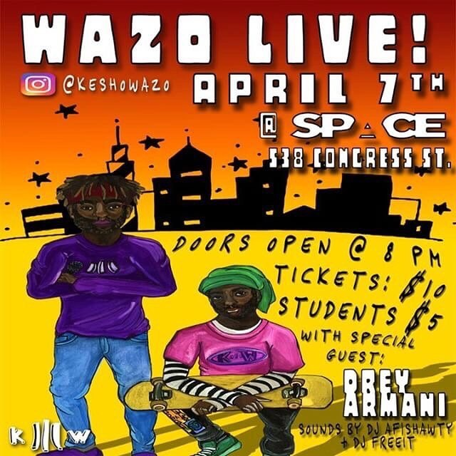 TOMORROW NIGHT WAZO LIVE 🎫 DOORS OPEN @ 8PM 🎉🎊📸 #WazoLive #KeshoWazo #TomorrowIdeas