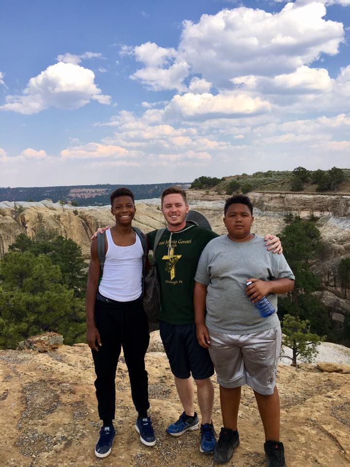 John and Kayvon with missionary Christopher on our New Mexico Mission Trip