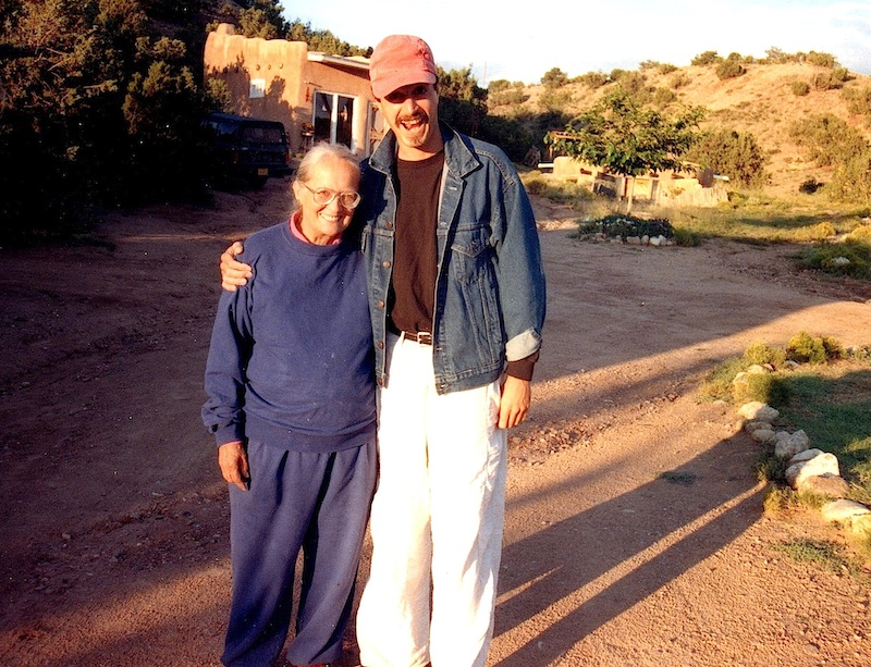 with anthropologist Felicitas Goodman, New Mexico