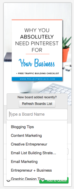 Select your boards