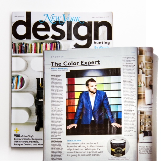 NY Magazine Design Hunting   Fall 2017/ Winter 2018  Click through to read more  Schedule an INCOLOUR IN HOME Expert Consultation  with designer's designer Martin Kesselman.  Colour work & Collaborating is what he does best  Projects of all sizes welcome