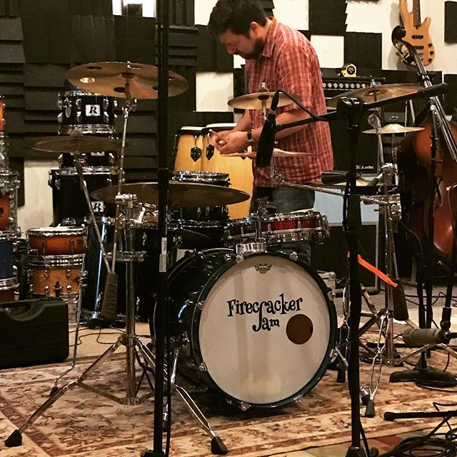Getting ready to record drums with Firecracker Jam! Check them out at the @locknfestival this year! #edenlt386 #presonus #locknfestival