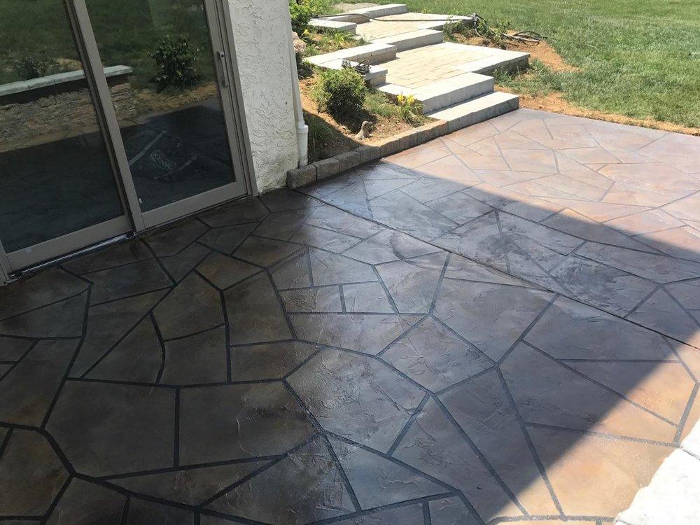 Concrete Patio Overlay   Phoenixville, PA