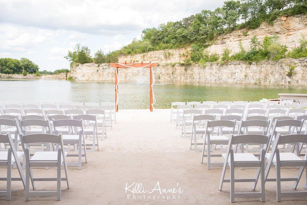 Ceremony Details, White Sand, Beach Wedding, Large Bluff, Wood Arbor, White Chairs, Private Location, Washington Missouri, Sunset Bluffs