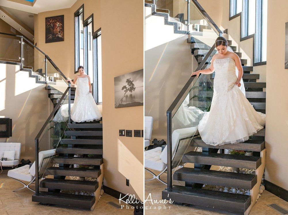 Bride, Staircase, Sunset Bluffs