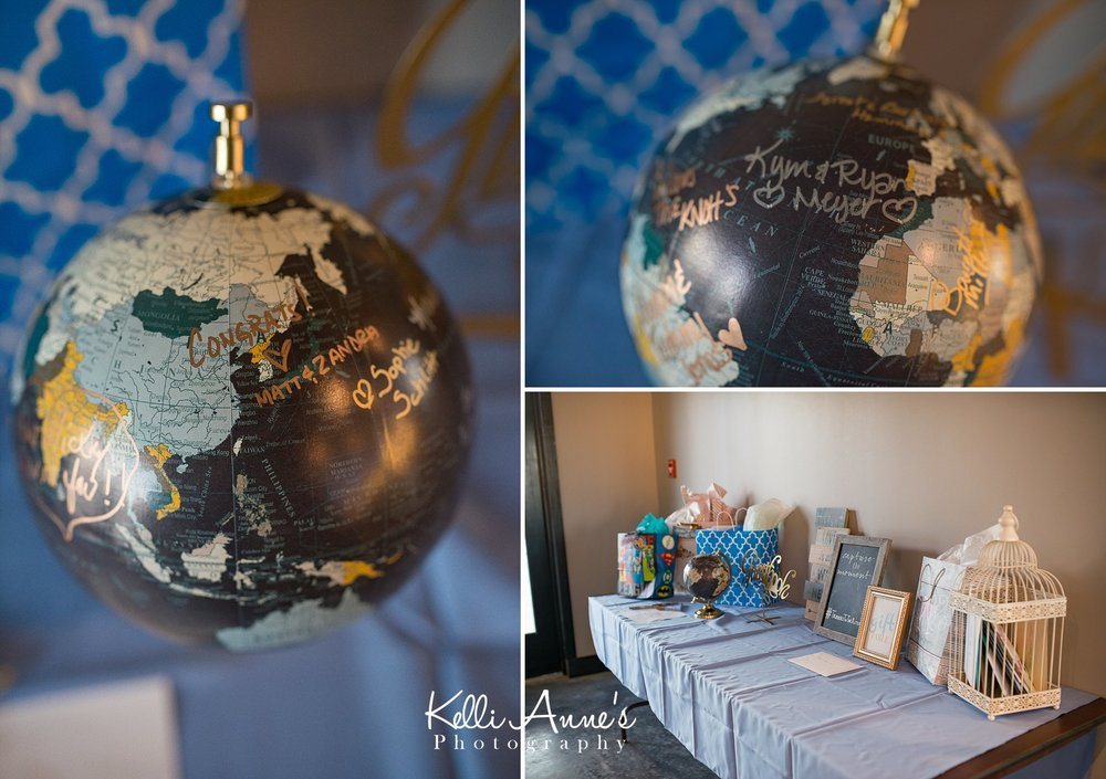 Alternative Guest Book, Signing the Globe, Gift Table, Card Cage, Sunset Bluffs