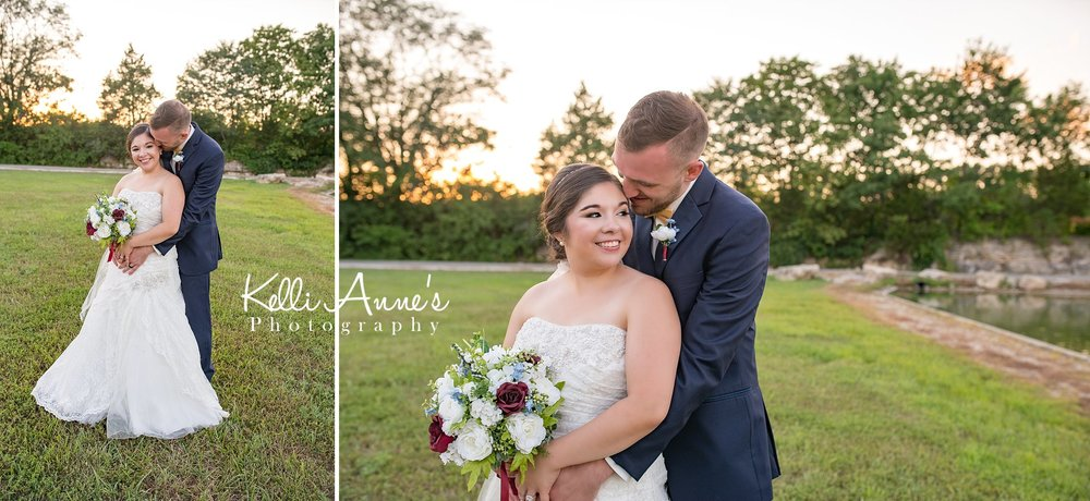 Bride, Groom, Bouquet, Sunset, Whispering in ear, laughing, romantic, intimate, Sunset Bluffs