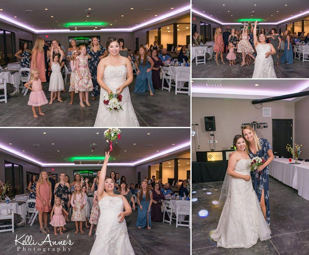 Bouquet Toss, Bride, Single ladies, Bouquet, throw bouquet, girls, dresses
