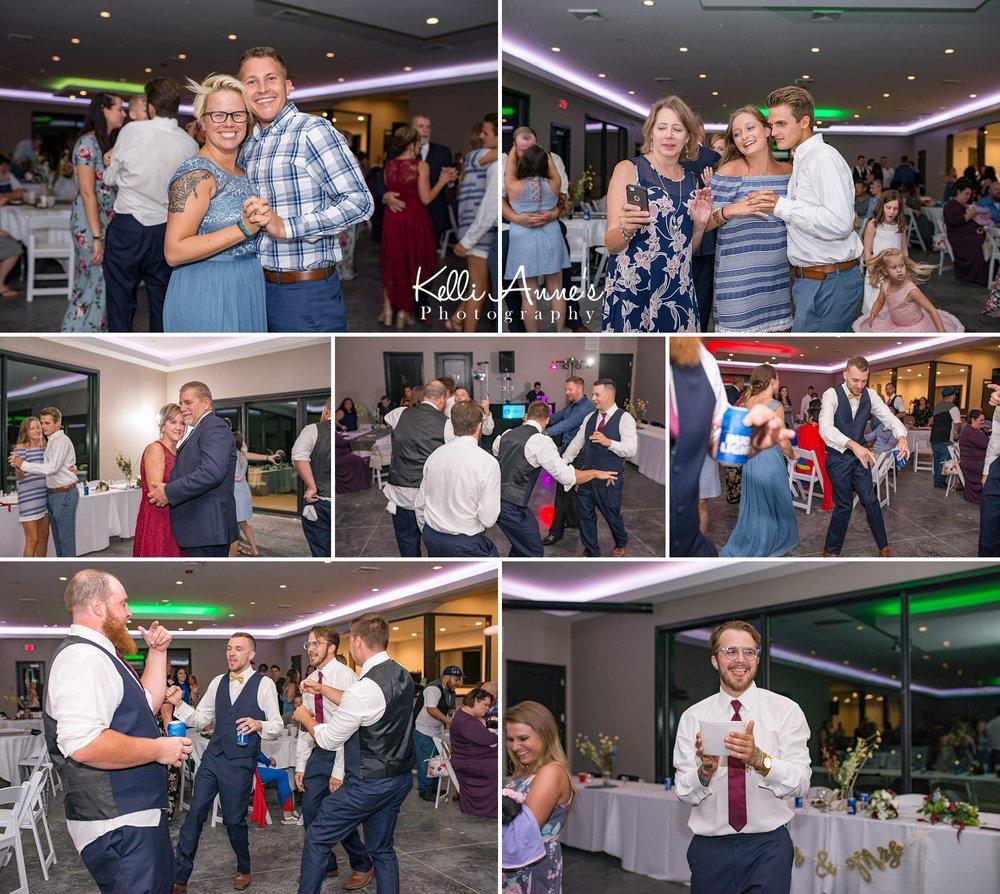 Reception, Dancing, Getting down, Group Dancing, Open Dancing, bride, groom, children, Dollar Dance, Slow Dancing, kids, bridal party, sunset bluffs, washington mo