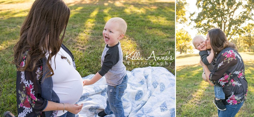 Belly, baby brother, maternity, big brother, laughing, kisses, momma kisses, lake, trees, mother son, momma boy